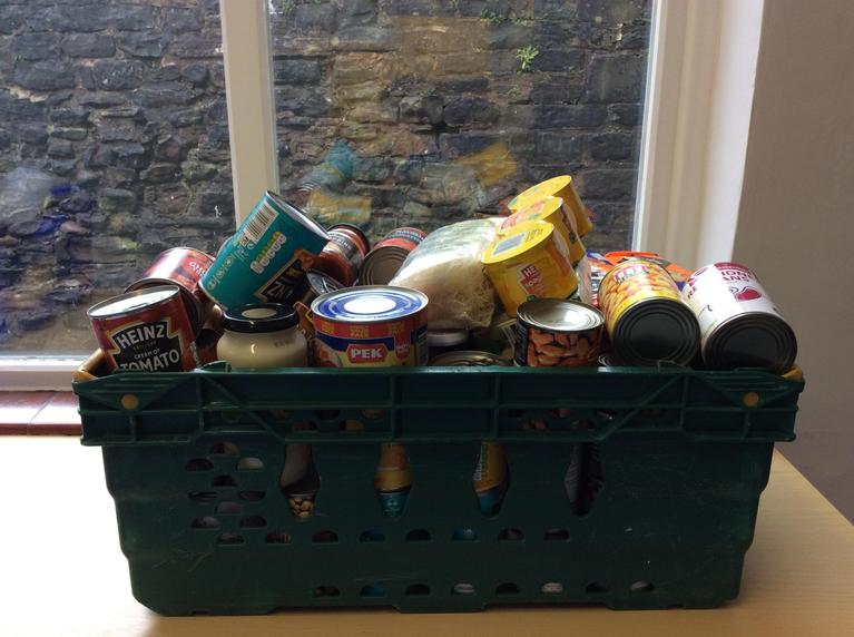 Here is our donation to Burnley Food Bank. Thank you to all who donated.