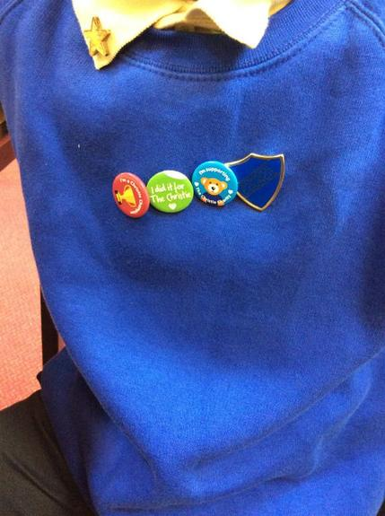 Badges from Spelling Challenge