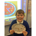 In practical math we made clocks to help us to practice telling the time