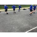 Fun outdoors in PE