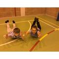The children enjoying their PE lessons