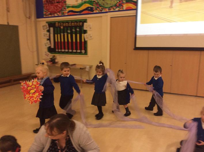 Our dragon dance for Chinese New Year