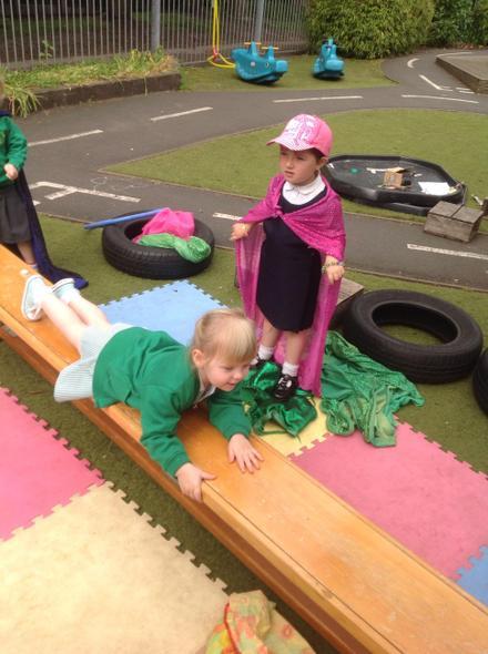 Sliding across the plank
