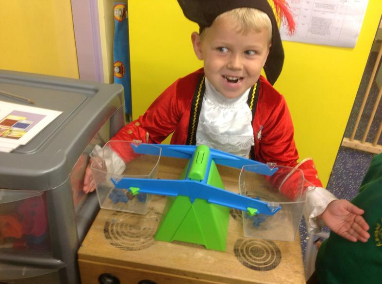 Weighing our treasure!