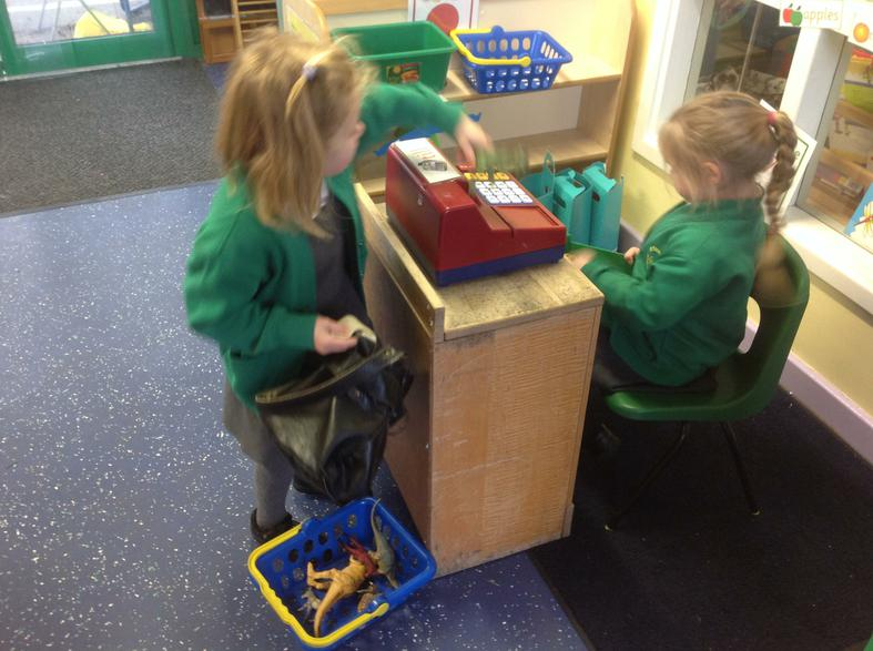 Role-play with resources to make a Dinosaur museum