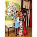 Mrs Haresceugh & Mrs O'Toole embracing the theme