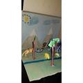 Eleanor's Stone Age Diorama - Year 3