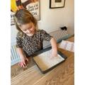 Francesca developing fine motor skills - Nursery