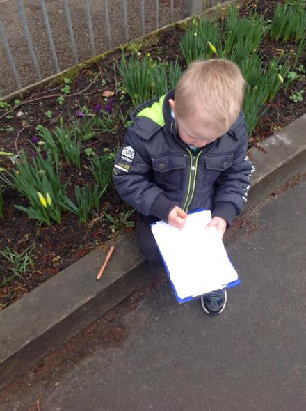 Using mark-making to record observations of nature