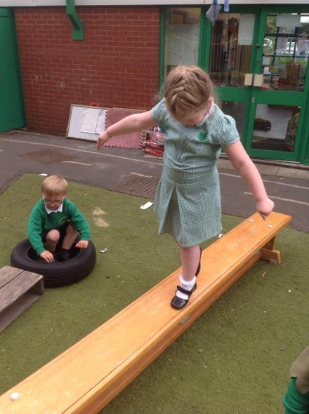 Tip-toeing across the plank