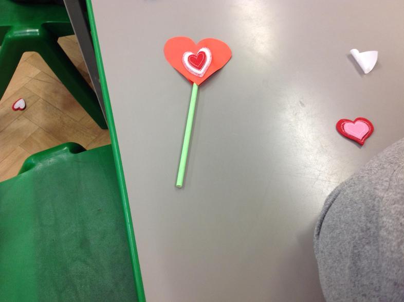 Our Valentine friendship wands