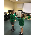 Maya and Orla performed a clap song