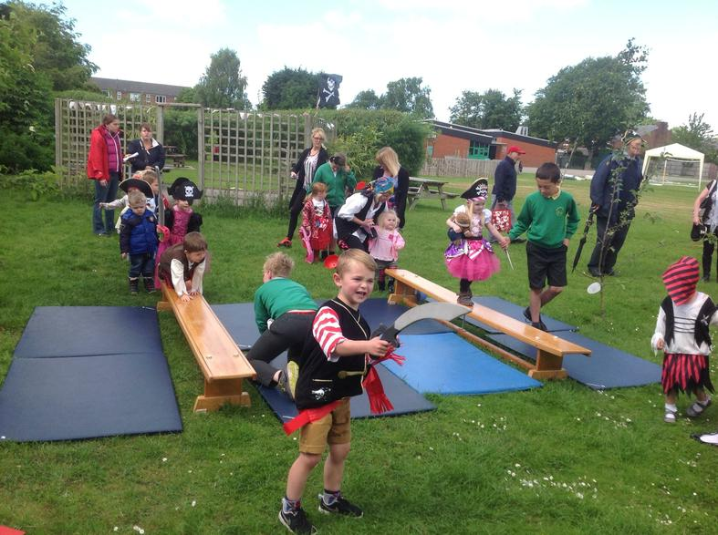 Pirate Blackhall survived the challenge...