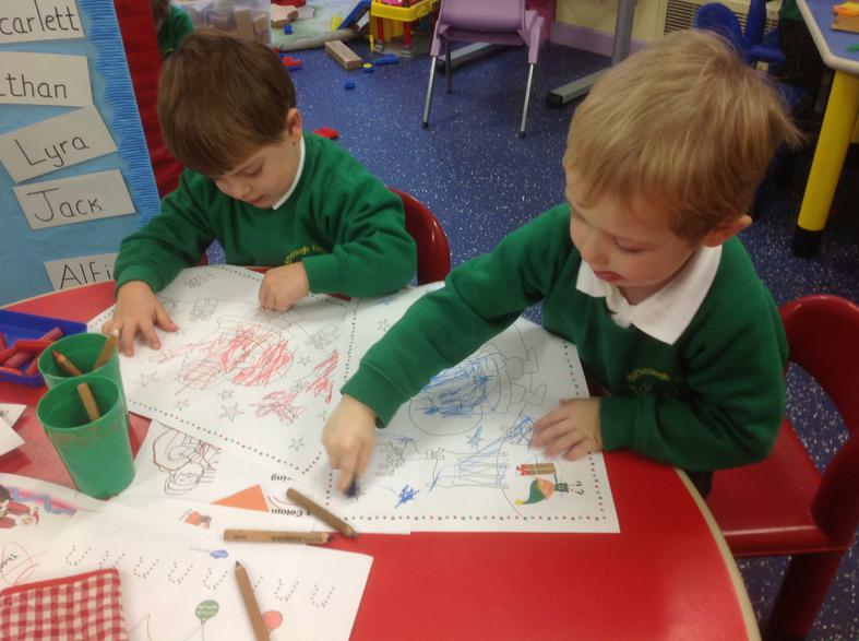Colouring  tablemats for Nursery Christmas Party