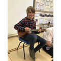 1st Place: Barnaby with his Ukulele