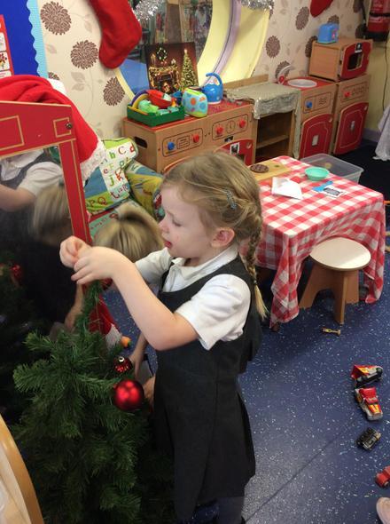 Decorating Our Nursery Christmas Tree