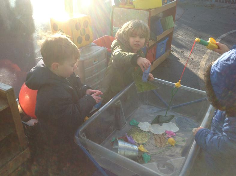 using tools and working together
