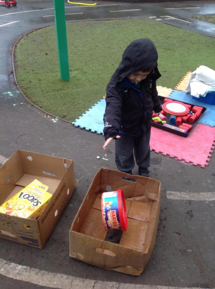 George did a great job collecting our recycling!