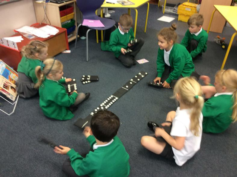 Counting and matching domino dots