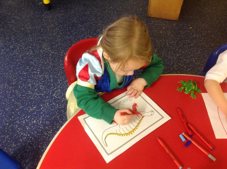 mark-making, pictures and colours