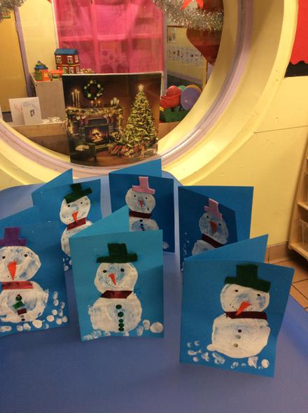 We have made Christmas cards