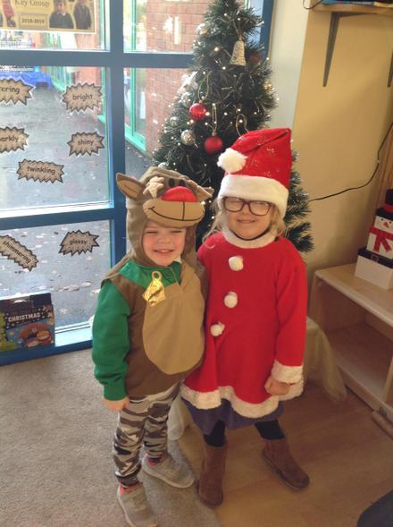 Father Christmas and Rudolf