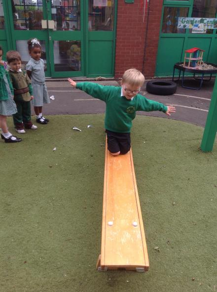 Exploring different ways of moving.