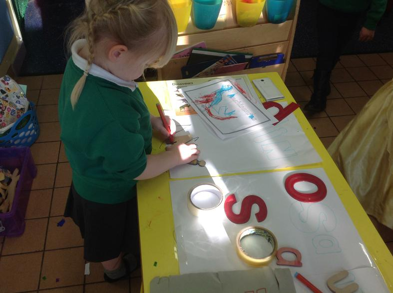 investigating letters and shapes