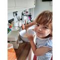 Eva made cakes
