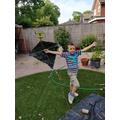 Zach's rainbow kite
