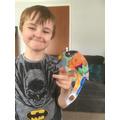 Nathan's balancing parrot