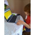 Eva practising her maths on RMEasimaths