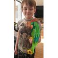 Jonas's balancing parrot