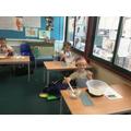 Emilia and George enjoying their baking