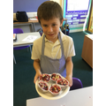 Noah made fairy cakes!