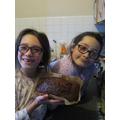 Charlotte & Chloe made banana bread