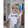 Rudy's balancing parrot