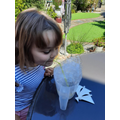 Eva tried the blowing bubbles challenge