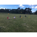 Seated ball throw at our mini sports day