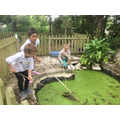 A spot of pond dipping!
