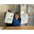 Ollies Leaf printing.jpeg