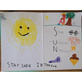 Rudy's Sun Safety poster