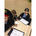 We were pirates on a maths treasure hunt.