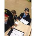 We were pirates on a maths treasure hunt.