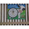 Can you see what time milking time is?