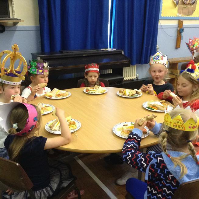Enjoying a royal birthday lunch!