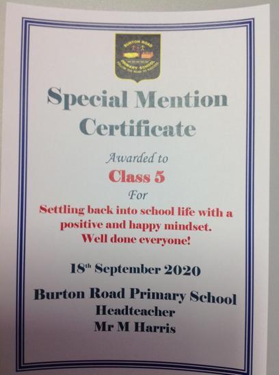 Well done Class 5 a great team effort.