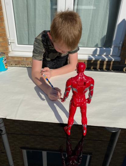 Super Hero Shadow Drawing.