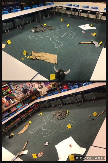 Viking raid crime scene