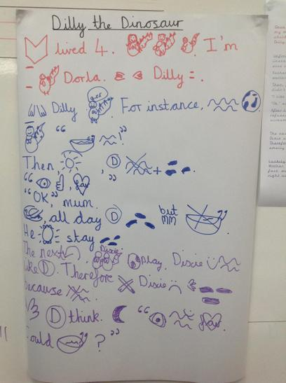 We have been imitating Dilly the Dinosaur. Can you practice this with your grown ups at ho